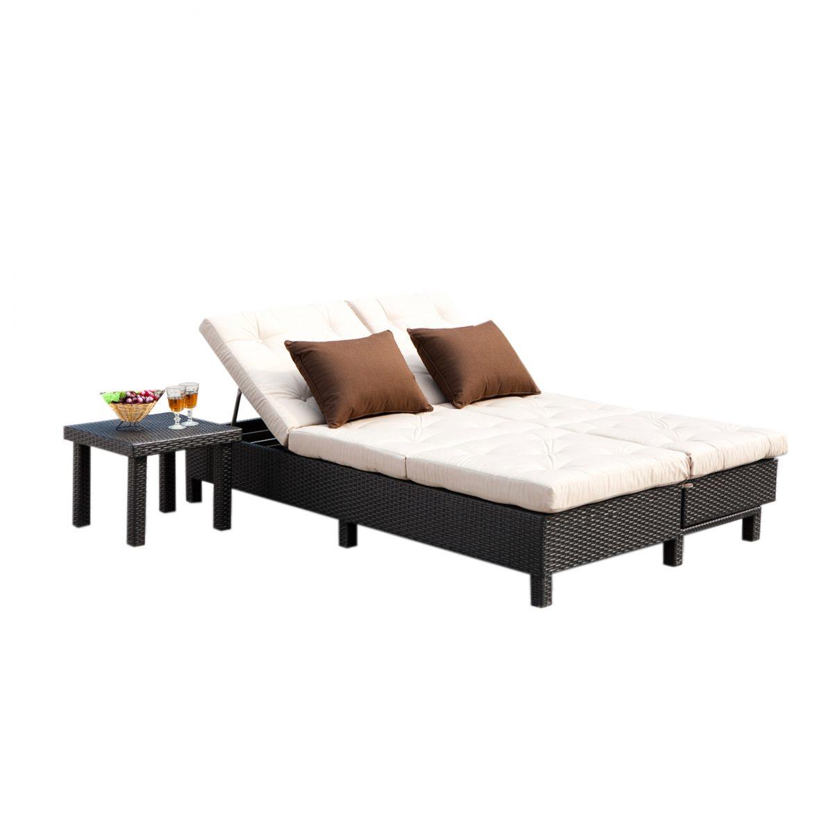 Sirio Euro Patio Double Chaise Lounge Sofa Set