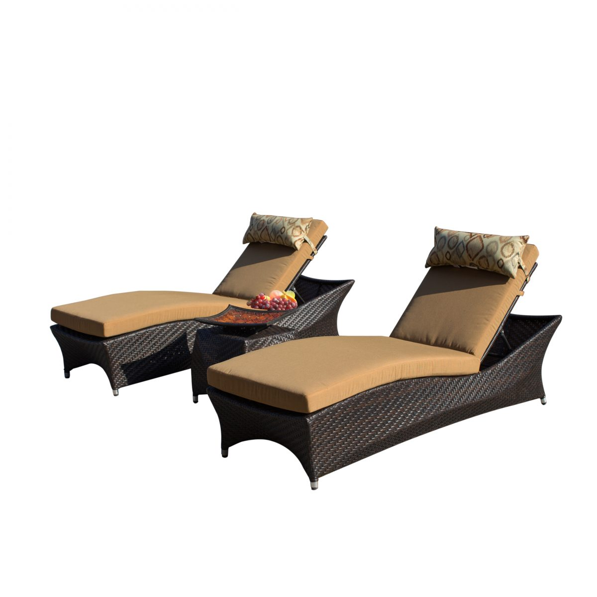 Sirio futura 3 piece chaise lounge set starsong for Chaise 3 pieds