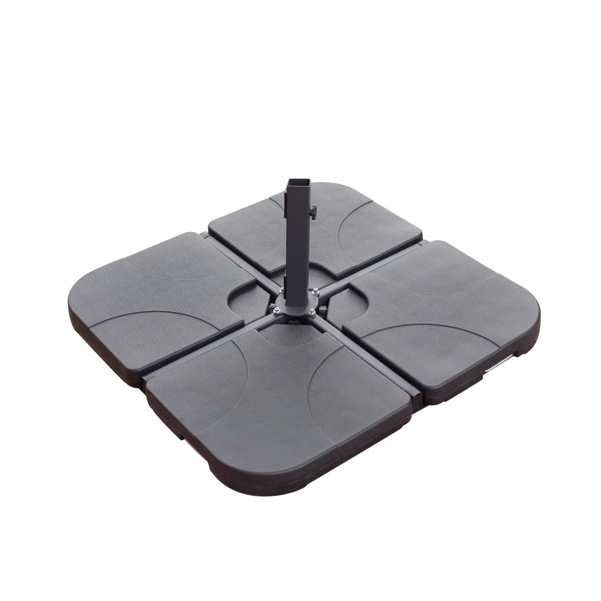 Umbrella Stand Water Filled: Borealis Cantilever 4-piece Plastic Umbrella Base With