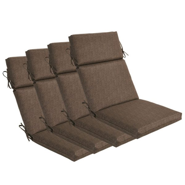 Borealis Outdoor Indoor Coffee High Back Chair Cushions