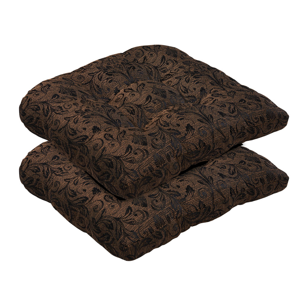 Superior Damask Bench Part - 9: Borealis Outdoor/ Indoor Tufted Black And Gold Damask Bench Loveseat Cushion