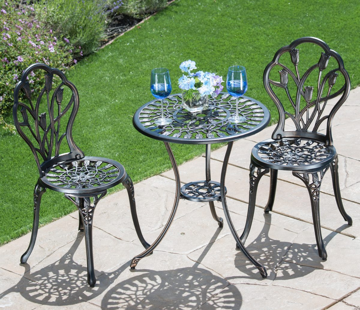 Corvus Casio 3-piece Antique Bronze Cast Aluminum Bistro Set
