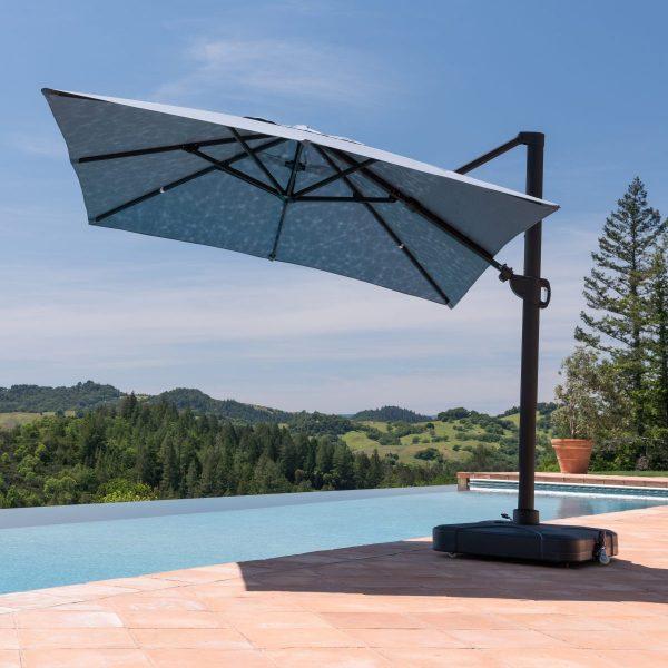 Sirio Niko Denim Blue Square Resort Umbrella