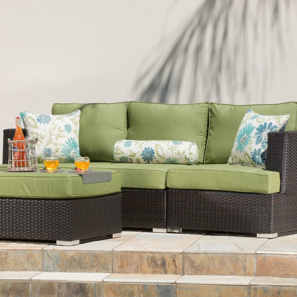 Sirio Sorrento 4 Piece Brown And Green Resin Wicker
