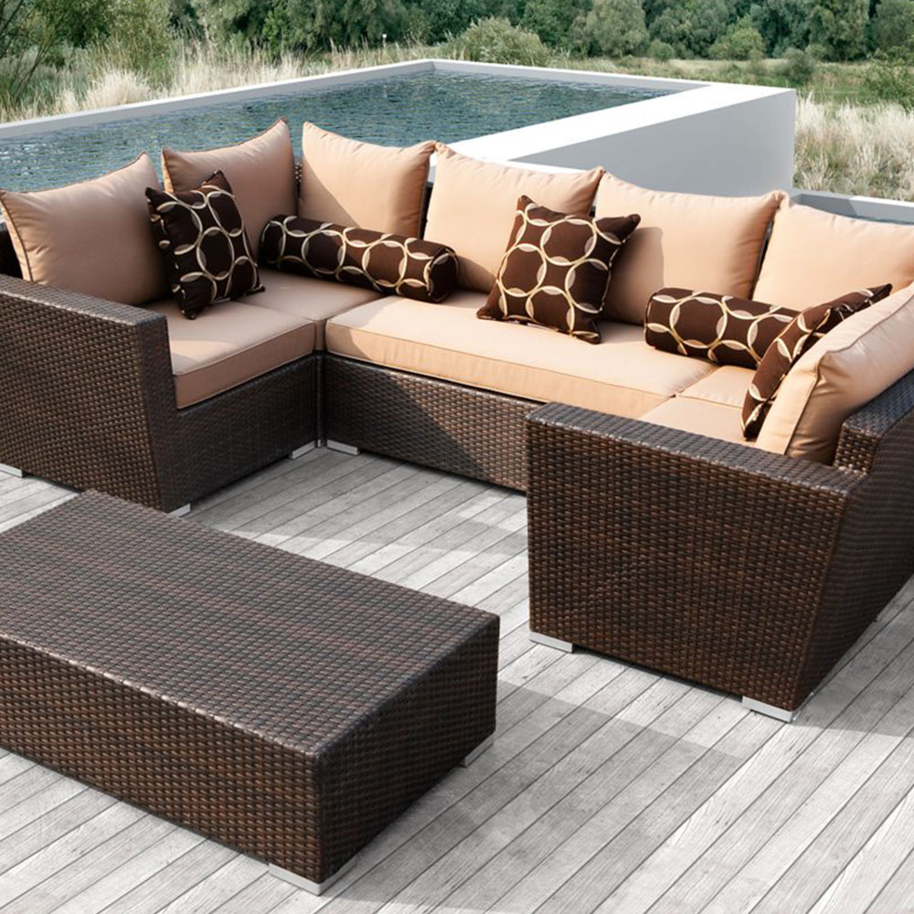 Sirio Bethany 6 Piece Resin Wicker Outdoor Sofa ...