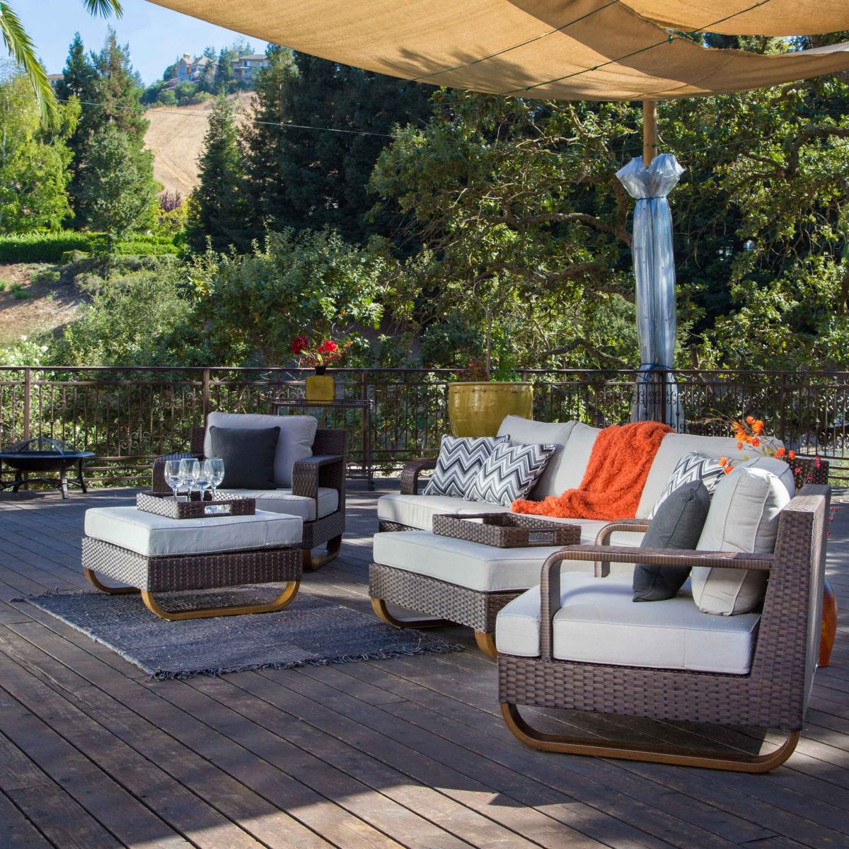Canopy Covering Outdoor Patio Furniture