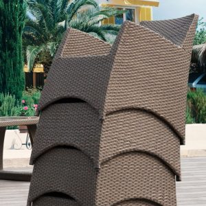 how to protect outdoor furniture - stacked chairs for furniture storage