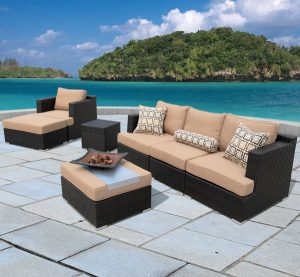 Corvus Morgan Outdoor 7 Piece Wicker Patio Set