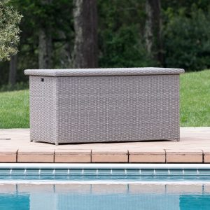 patio furniture for small spaces - sirio grey patio storage box