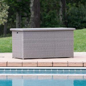 patio furniture for small spaces - sirio grey patio storage box