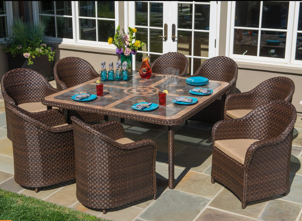 best outdoor dining set - san marino 9 piece set
