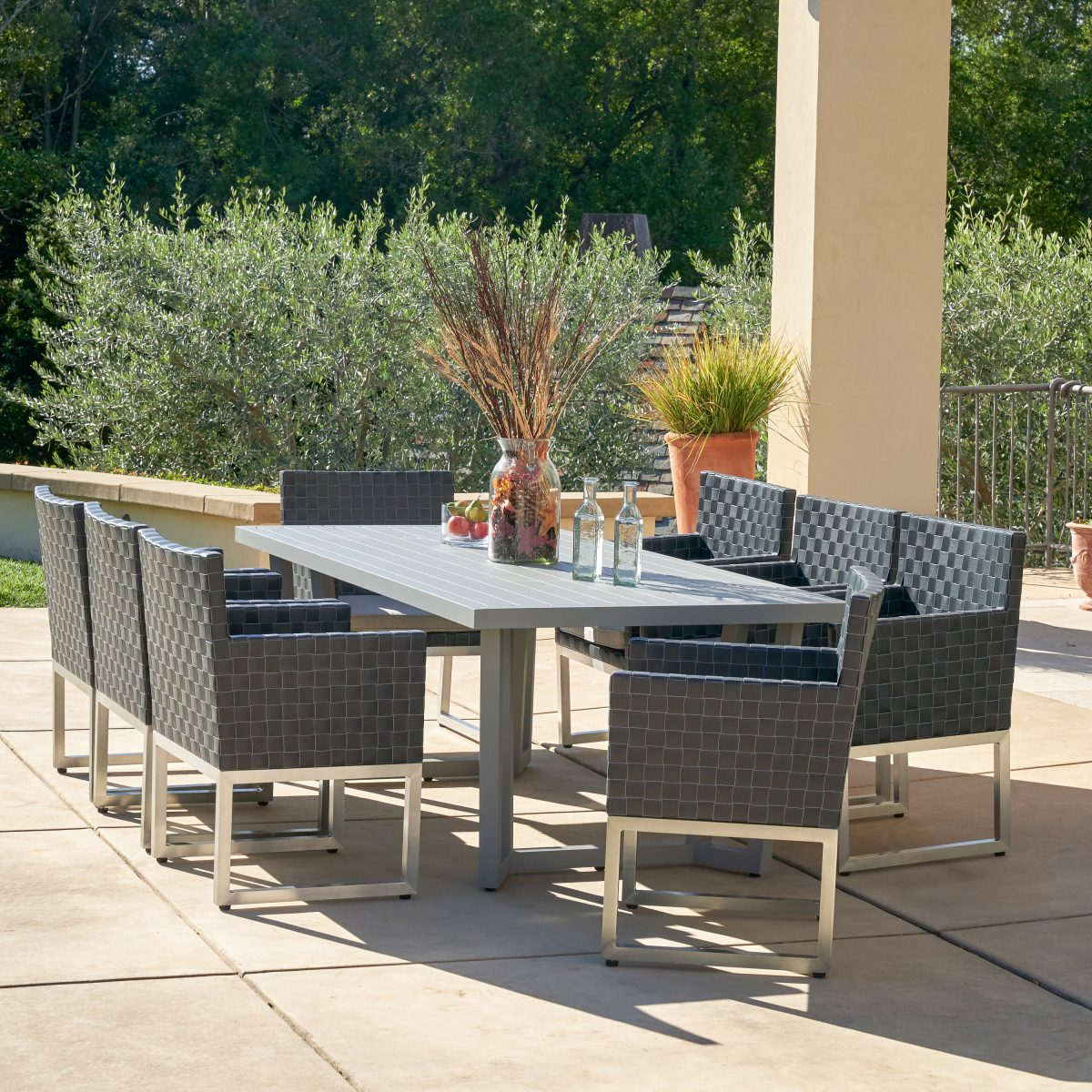 best outdoor dining set - sirio soho 9 piece set