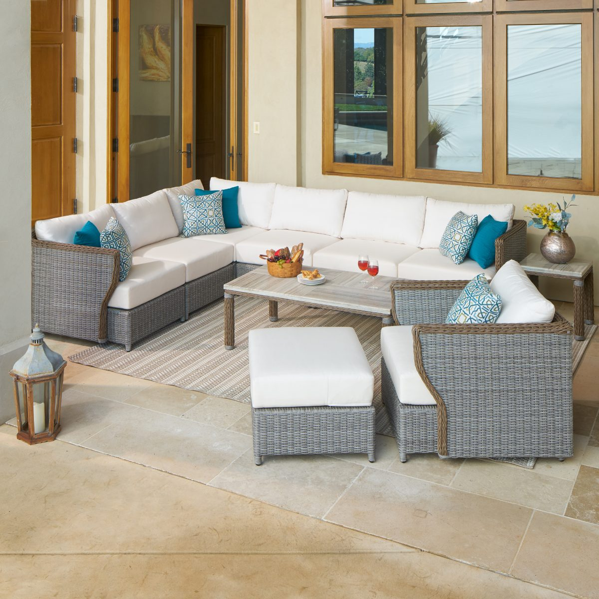 how to arrange patio furniture - cozy furniture near wall