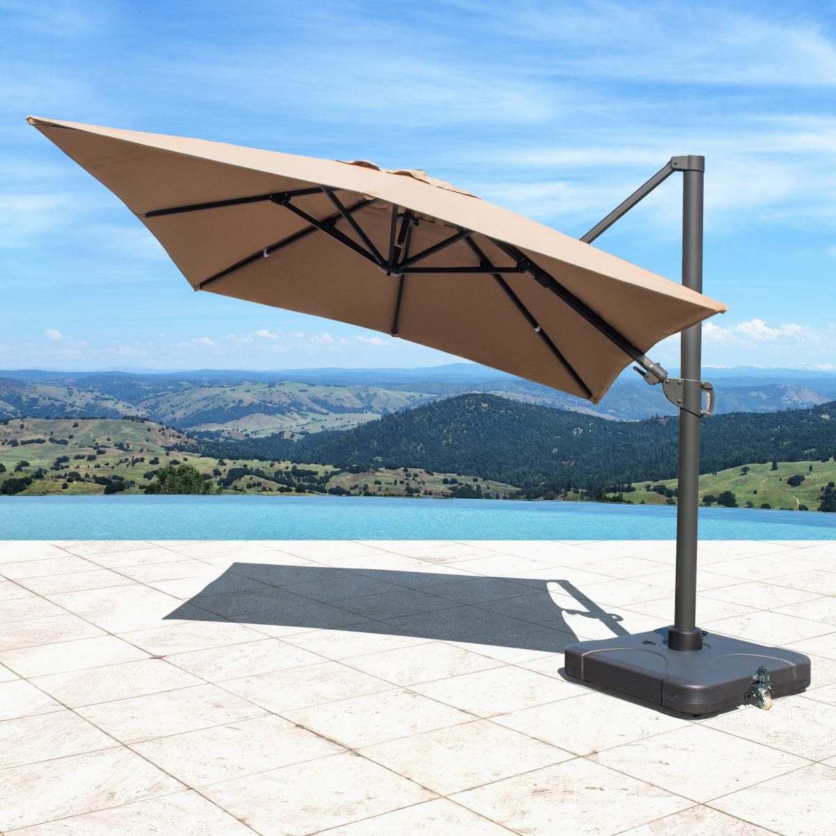 how to choose a patio umbrella - cantilever