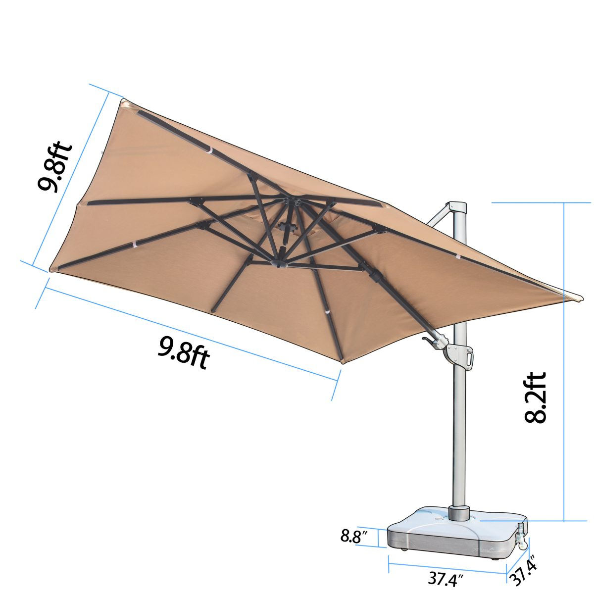 How to choose a patio umbrella - dimensions