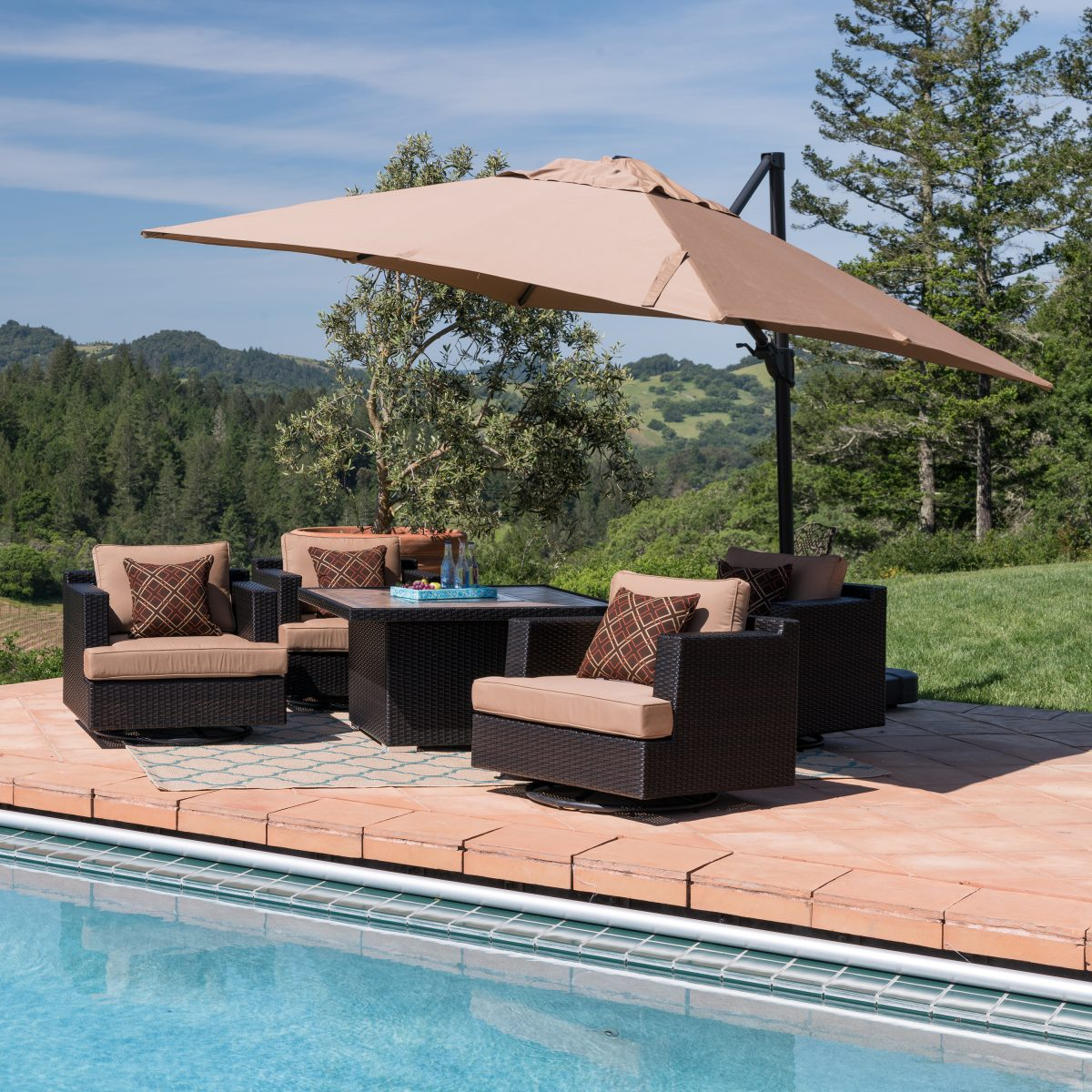 how to choose a patio umbrella - style