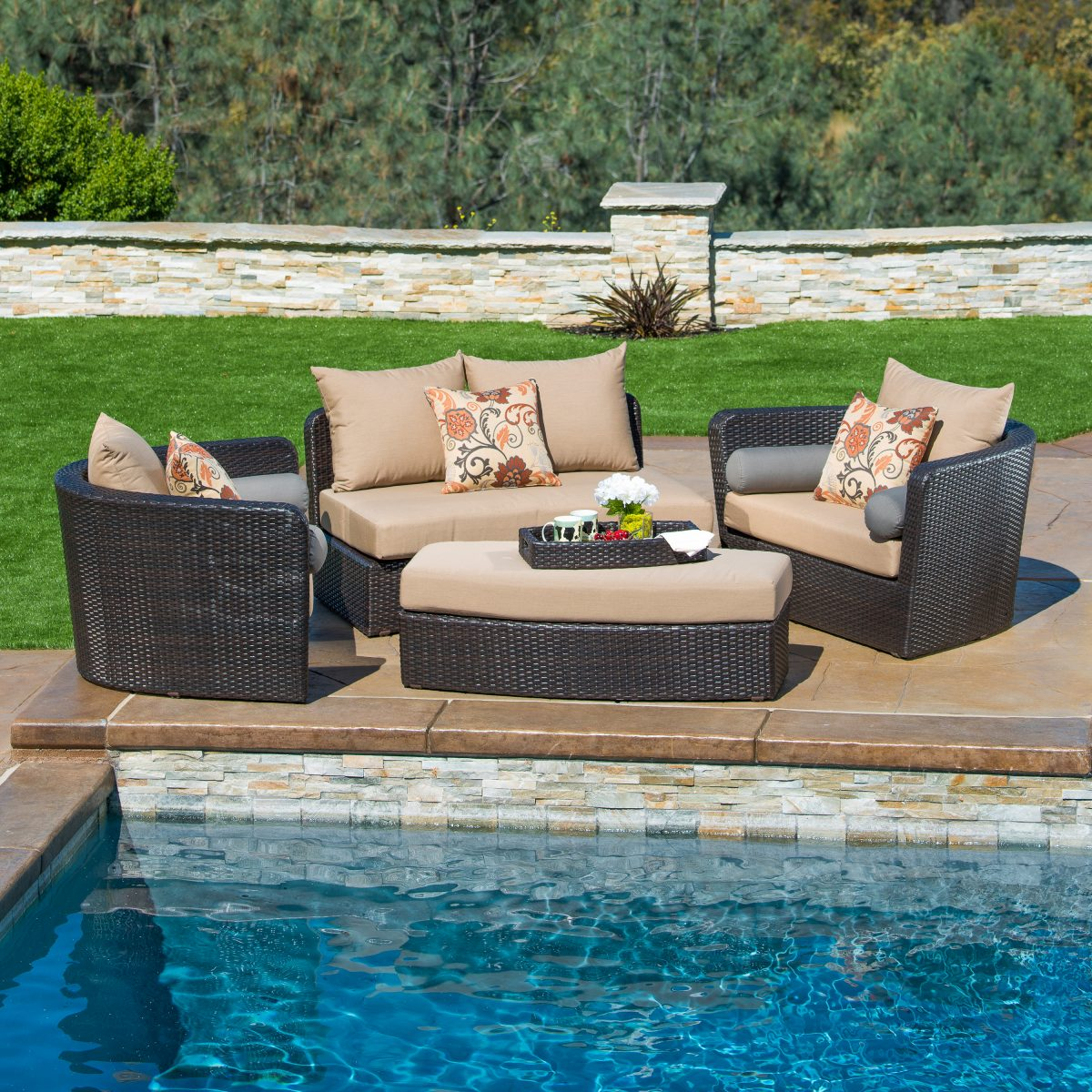 poolside furniture ideas - modular furniture