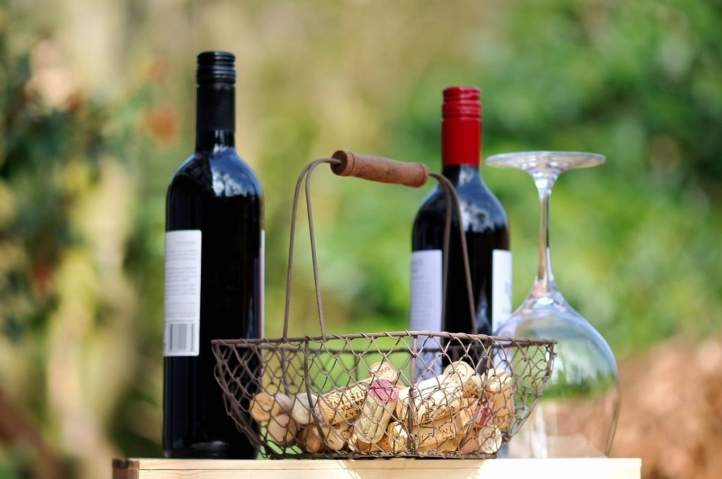 fall outdoor party ideas - wine tasting