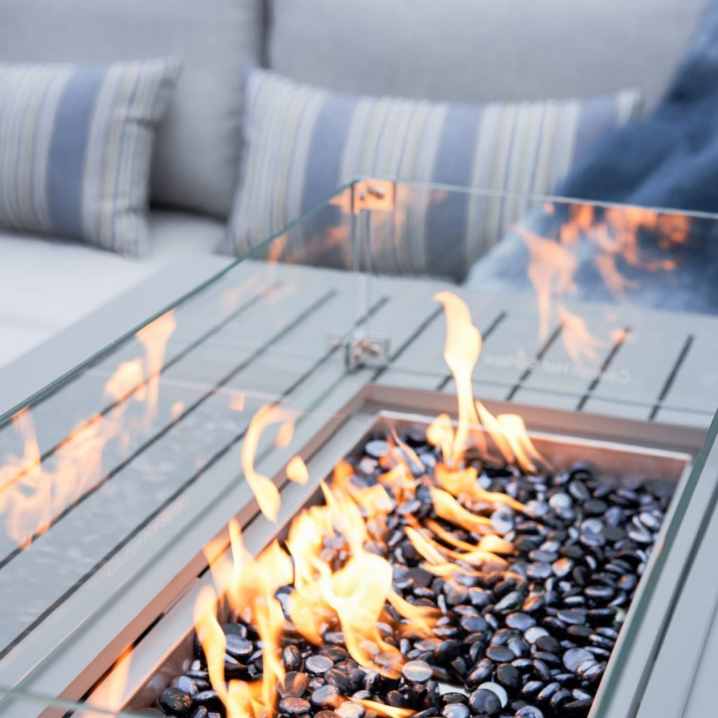 patio trends - fire table